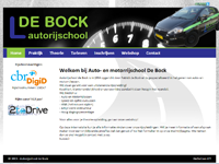 Website Autorijschool de Bock